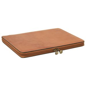 Cowhide leather portfolio - Brown Colonial