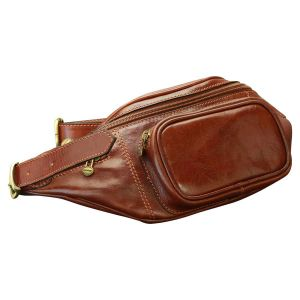 Leather Fanny Pack - Brown
