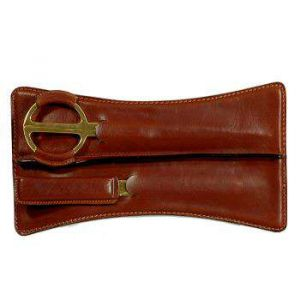 Leather Letter Opener and Scissor Set - Brown