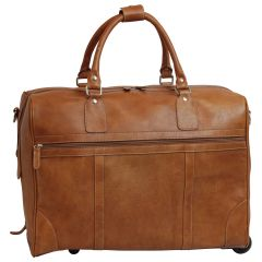 Oiled Calfskin leather duffel bag - Colonial Brown
