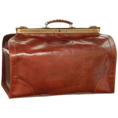 "Leather ""Old America"" Bag (Large) - Brown"