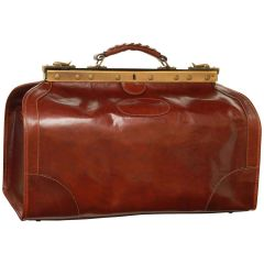 Borsa da viaggio Old America in Pelle (Media). Marrone