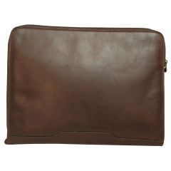 Leather portfolio - Dark brown
