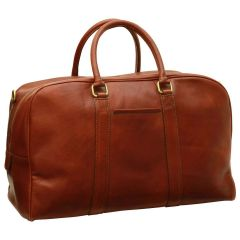 Soft Calfskin Leather Travel Bag - Brown