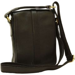 Soft Calfskin Leather Satchel Bag - Black