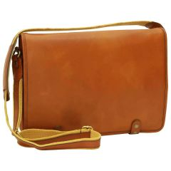 Calfskin Nappa Messenger Bag - Gold