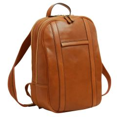 Soft Calfskin Leather Laptop Backpack - Gold