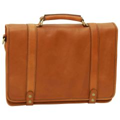 Calfskin Nappa leather briefcase - Gold
