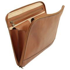 Leather Folder - Brown Colonial