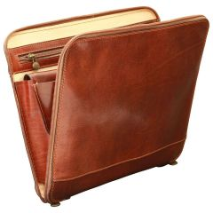 Leather Folder - Brown
