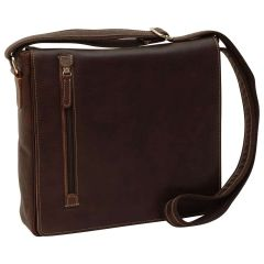 Lightweight Messenger Bag - Dark Brown