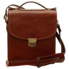 Classica II Leather Satchel - Brown