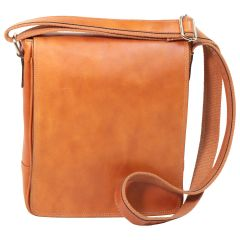 Leather Satchel Bag for I-Pad - Brown Colonial