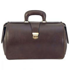 Leather Doctor's Bag - Dark Brown