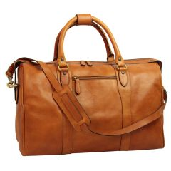 Travel Bag with shoulder strap - Brown colonial