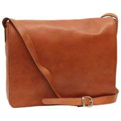 Cowhide leather messenger bag - Colonial
