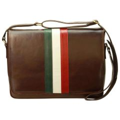 Italian Flag - Messenger Bag - Dark Brown