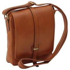 Small leather bag with magnetic closure - Brown Colonial
