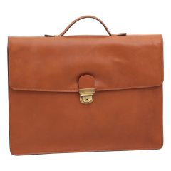 Business leather briefcase colonial