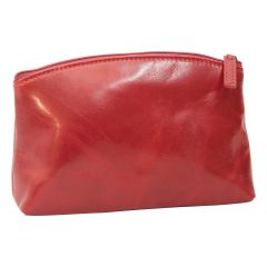 Leather Beauty case - red