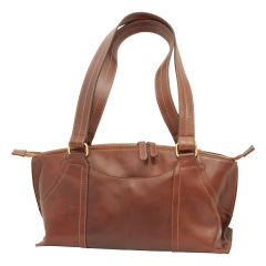Leather hand bag- brown