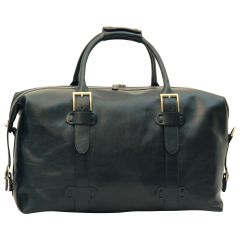 Cowhide leather Travel Bag - Black