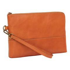 Full grain calfskin document case - brown colonial