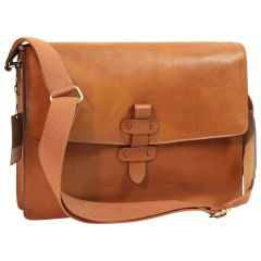 Leather messenger bag - Brown Colonial