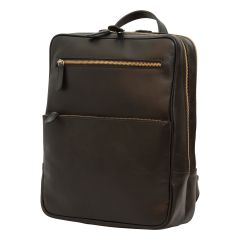 Leather backpack - black