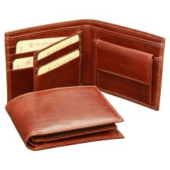 Vachetta Leather Bifold Wallet - Brown