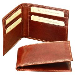 Bifold wallet with RFID blocking technology - Brown