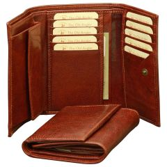 Women's Leather Trifold Wallet