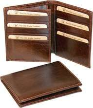 Cowhide leather trifold wallet - Brown