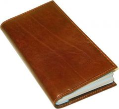 Cowhide leather weekly planner - Brown
