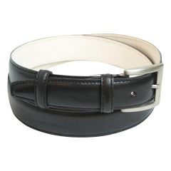 Calfskin leather belt - black