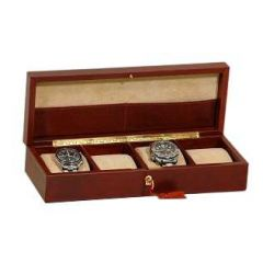 Leather watch case - Brown
