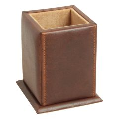Leather Pen Holder - Brown