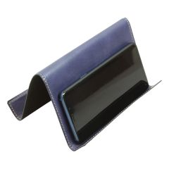 Leather ipad and iphone stand