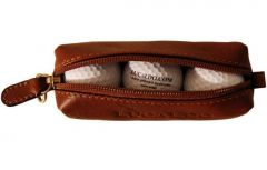 Tuscan Soul Leather Golf Ball Holder - Brown
