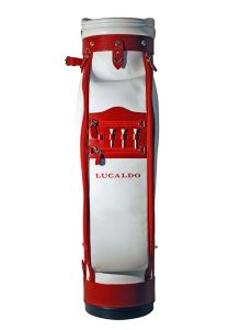 Selective Leather Golf Bag - Red/White