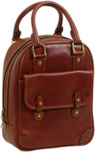 Tuscan Soul Deluxe Leather Shoe Bag- Brown