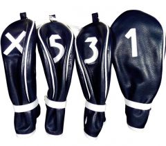 Selective Leather Head Covers - Navy/White